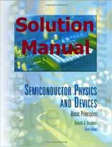 Solution Manual Semiconductor Physics and Devices 4th edition by Donald Neamen