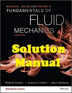 Solution Manual Munson, Young and Okiishi's Fundamentals of Fluid Mechanics 8th Edition
