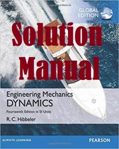 Solution Manual Dynamics in Si Units 14th Edition by Russell Hibbeler