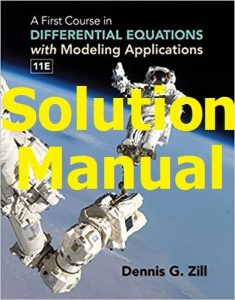 Download Solution Manual for A First Course in Differential Equations 11th Edition by Dennis Zill