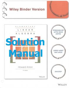 Download Solution Manual Elementary Linear Algebra 11th edition by Howard Anton
