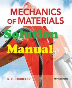 Solution Manual for Mechanics of Materials 10th edition Russell Hibbeler