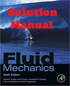 Solution Manual for Fluid Mechanics 6th edition Kundu & Cohen