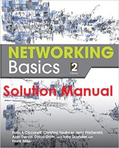 Solution Manual Networking Basics 2nd edition Patrick Ciccarelli