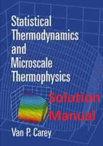 Solution Manual Statistical Thermodynamics and Microscale Thermophysics Van Carey