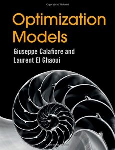 Optimization Models Giuseppe Calafiore & Laurent El Ghaoui