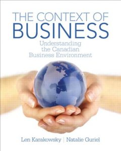 The Context of Business: Understanding the Canadian Business Environment Len Karakowsky & Natalie Guriel