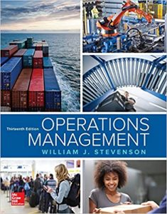 Operations Management 13th edition William Stevenson