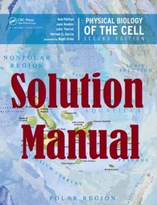 Solution Manual Physical Biology of the Cell 2nd Edition by Phillips and Kondev