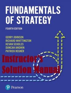 Instructor's Manual Fundamentals of Strategy 4th edition by Gerry Johnson and Kevan Scholes