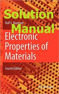 Download Solution Manual for Electronic Properties of Materials by Hummel