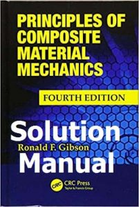 Solution Manual Principles of Composite Material Mechanics 4th edition Ronald Gibson