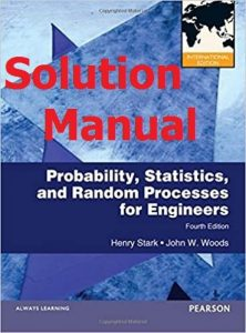 Solution Manual Probability and Random Processes International Version by Stark & Woods