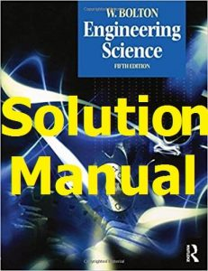 Download Solution Manual Engineering Science William Bolton