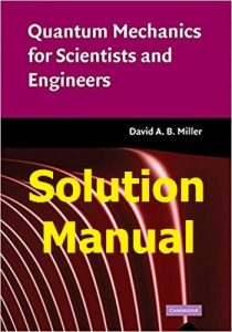 Solution Manual for Quantum Mechanics for Scientists and Engineers by David Miller