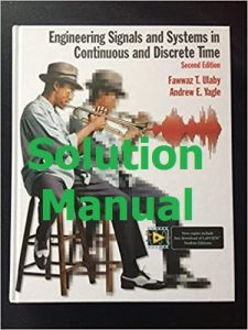 Download Solution Manual Engineering Signals and Systems 2nd edition by Fawwaz Ulaby